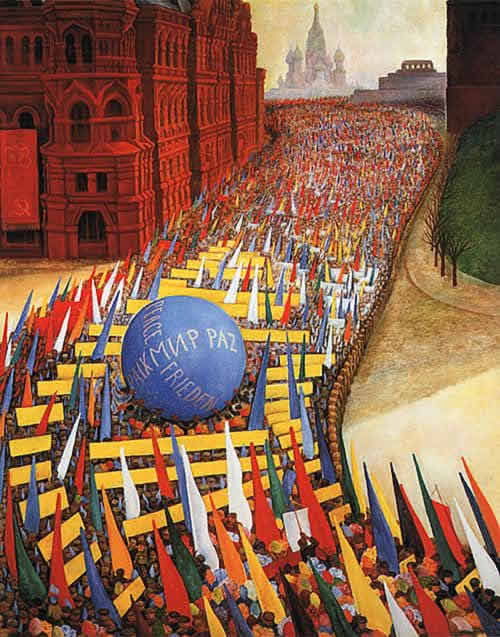 Diego Rivera Mural of protest march